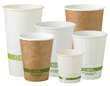 Hot Coffee Cups Paper Pla All Sizes