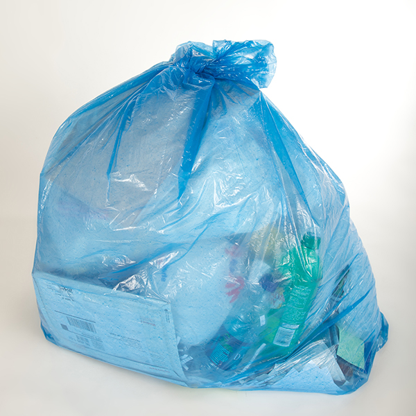 Green Core 70 Pcw Recycled Blue Recycling Bags 50 Gallon