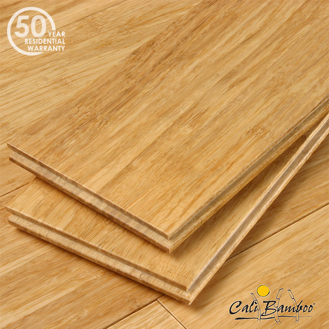Cali Bamboo Rustic Barnwood Fossilized Wide Tounge Groove: Natural Fossilized Wide T&G Bamboo Flooring -7003003300